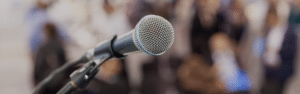 banner - microphone