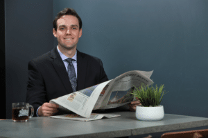 PR exec with Wall Street Journal over coffee