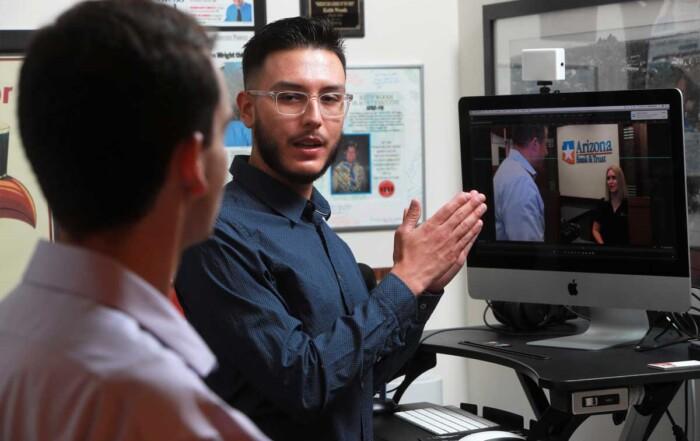 PR storyteller in the video editing room